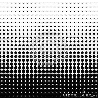 Halftone black Vector Illustration
