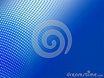 Halftone blauwe abstracte achtergrond