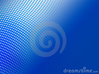 Halftone blue abstract background