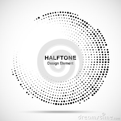 Free Halftone Circle Frame With Black Abstract Random Dots, Logo Emblem For Technology, Medical, Treatment, Cosmetic. Vector Royalty Free Stock Photos - 114042638