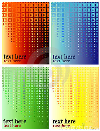 Halftone, Circles Background