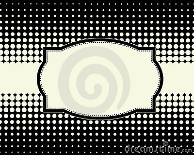 Halftone dot background frame