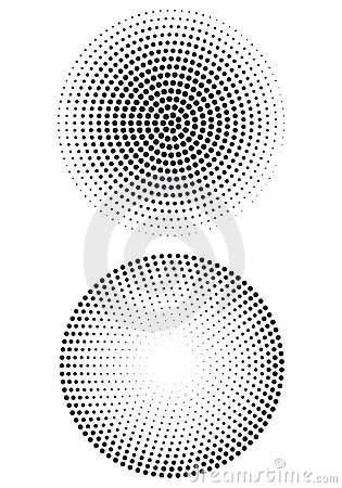 Halftone dot pattern,