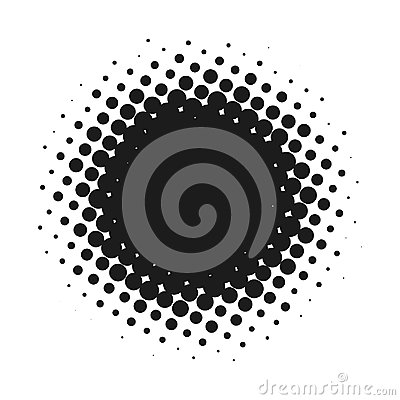 Free Halftone Dotted Vector Abstract Background, Dot Pattern In Circle Shape. Black Comic Banner Isolated White Backdrop Royalty Free Stock Photo - 98526205