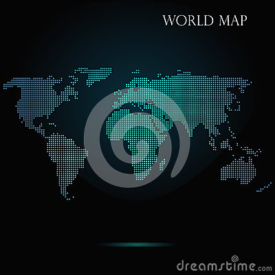 Halftone dotted world map vector illustration cartoondealer halftone dotted world map vector illustration gumiabroncs Gallery