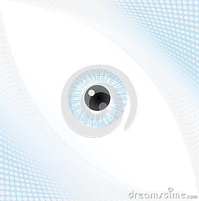 Halftone eye background