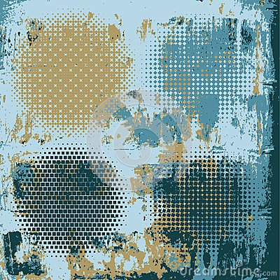 Halftone on the grunge vector background