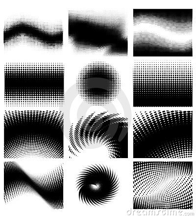 Free Halftone Set Royalty Free Stock Images - 10854159