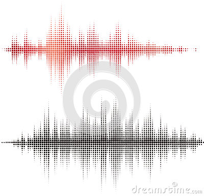 Free Halftone Square Vector Elements. Vector Sound Waves Royalty Free Stock Photography - 29780307