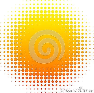 Halftone sun.