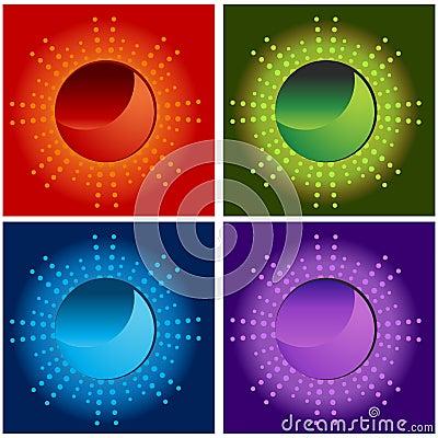 Halftone Sun Energy Icons