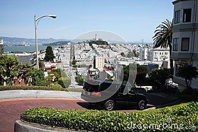 Halfway down Lombard Street, San Francisco
