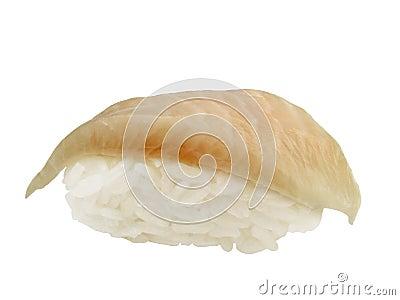 Halibut sushi