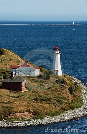 Lighthouses on outskirts of Halifax Harbour
