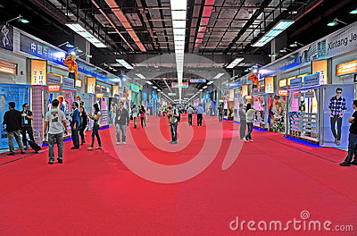 Hall 1.1y canton fair, china 2012 Editorial Image