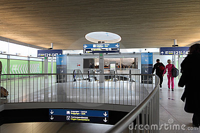Hall of the Charles de Gaulle airport Editorial Stock Photo