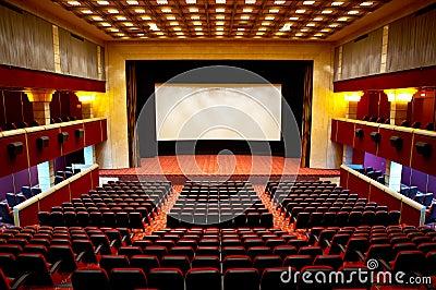 Hall of a cinema
