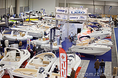 The Hall Of Dinghies-Big Blue Sea Expo,Rome 2011 Editorial Photo
