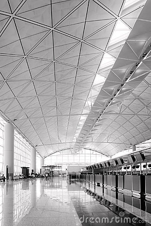 Hall of Hong Kong International  Airport