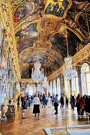Hall of Mirrors, Versailles Editorial Image