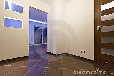 Hall of modern flat