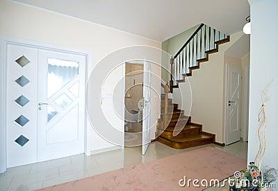 Hall of modern home