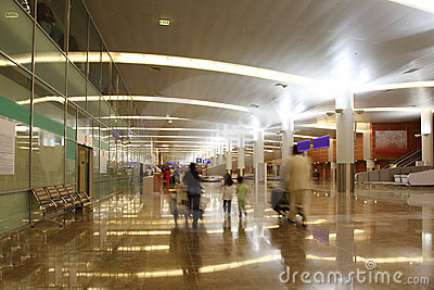 Hall of new terminal of Airport Sheremetyevo Editorial Photography
