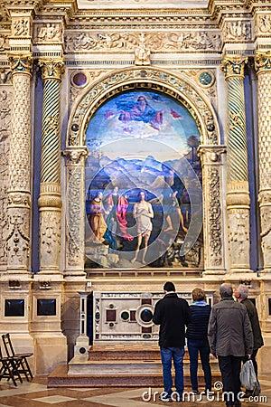 Free Hall Of Chiesa Di Santa Corona In Vicenza Stock Photos - 91088833