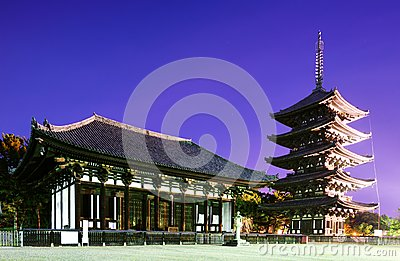 Famed Temple of Nara, Japan