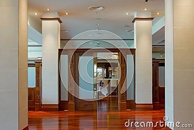 Hall with pillars