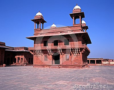 Hall of private audience, Fatehpur Sikri, India.
