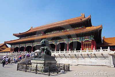 Hall of Supreme Harmony in Forbidden City Editorial Stock Photo