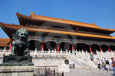 Hall of Supreme Harmony in Forbidden City Beijing Editorial Photo