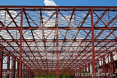 Hall under construction
