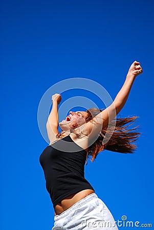 Hallelujah - Happy woman