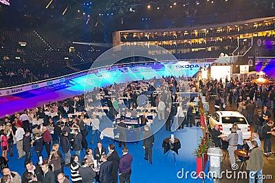Hallenstadion at sixday nights Zurich Editorial Stock Photo