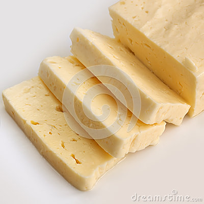 Halloumi Cheese over White