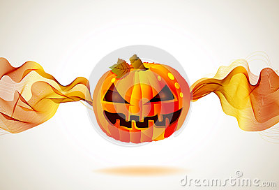 Halloween autumn background with pumpkin