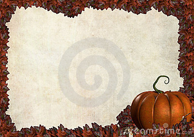 Halloween autumn frame border with leaves