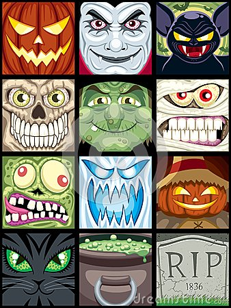 Free Halloween Avatars Royalty Free Stock Photography - 26016987