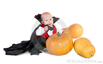 Halloween baby boy with pumpking 5