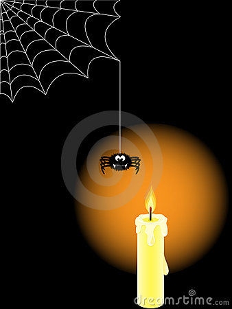 Halloween backdrop with candle