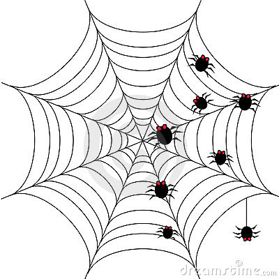 Halloween Background With Spider Web 1 Royalty Free Stock