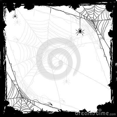 Free Halloween Background With Spiders Stock Images - 43742044
