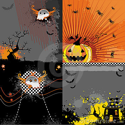 Free Halloween Backgrounds Set Royalty Free Stock Photography - 6410717