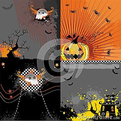 Halloween backgrounds set
