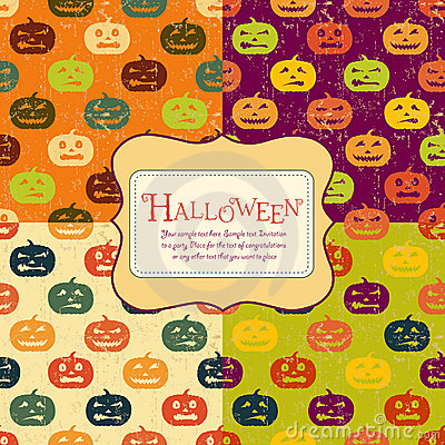 Halloween backgrounds set with tag. Four colors.