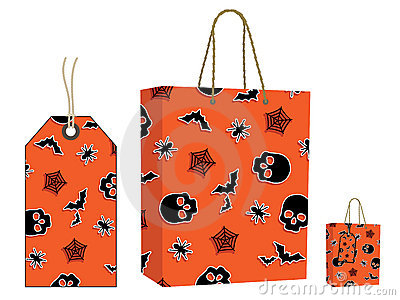 Halloween bag and tag set
