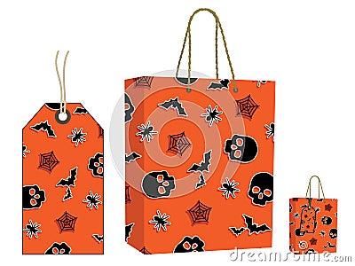 Halloween bag and tag set