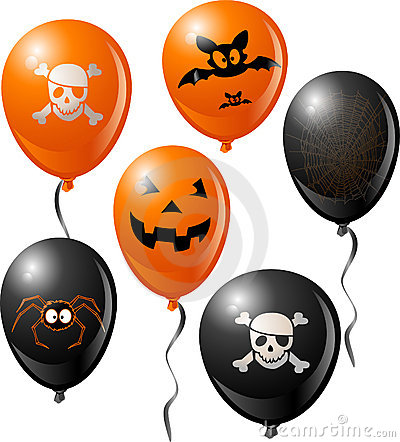 Free Halloween Balloon Set Royalty Free Stock Photography - 10695737